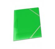 Mapa tříklopá OPALINE s gumou zelená, desky na spisy s gumou