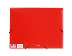 Mapa tříklopá s gumou červená, desky na spisy s gumou