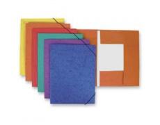 Mapa odkládací 3klopá s gumou prešpanová oranžová 1ks desky s gumou