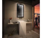 Koupelnové zrcadlo s LED osvětlením 80x50 cm 3D efekt, RGB