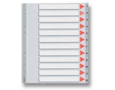 Rozlišovač MAXI 1-12 plast A4
