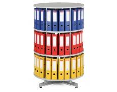Archivační otočná skříň - 3 patra šedá, skříň archivační otočná