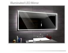 Koupelnové zrcadlo s LED podsvětlením 70x65 cm ATLANTA