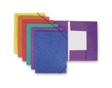 Mapa odkládací 3klopá s gumou prešpanová fialová 1ks desky s gumou
