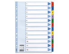 Rozlišovač 1-12 karton MYLAR color