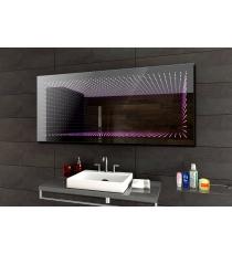 Koupelnové zrcadlo s LED osvětlením 120x60 cm 3D efekt, RGB