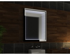 Koupelnové zrcadlo s LED osvětlením 43x75 cm 3D efekt , RGB