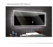 Koupelnové zrcadlo s LED podsvětlením 80x60 cm ATLANTA
