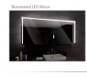 Koupelnové zrcadlo s LED podsvětlením 120x100cm SYDNEY