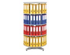 Archivační otočná skříň - 4 patra šedá, skříň archivační otočná