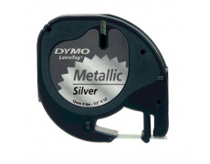 DYMO páska LetraTag 59429 - stříbrná