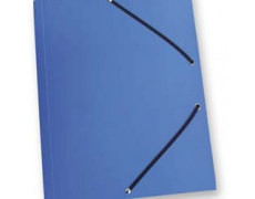Mapa tříklopá PVC s gumou neprůhledná modrá, desky na spisy s gumou