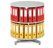 Archivační otočná skříň - 2 patra šedá