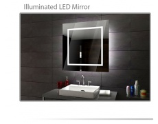 Koupelnové zrcadlo s LED osvětlením  90x80 cm SOFIA