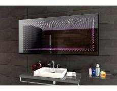 Koupelnové zrcadlo s LED osvětlením 105x65 cm 3D efekt, RGB
