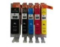 Sada Canon CLI551,PGI550, XL Black / Cyan / Magenta / Yellow + PGI550 XL Black MULTIPACK ,1x23ml+4x12ml
