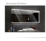 Koupelnové zrcadlo s LED podsvícením 90x80 cm MEDIOLAN
