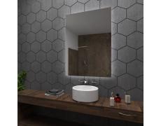 Koupelnové zrcadlo s LED podsvětlením 80x90 cm DUBAI