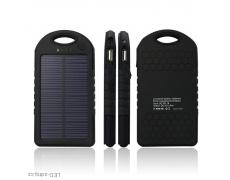Power banka 5.000 mAh solární černá ,PB-016, externí baterie