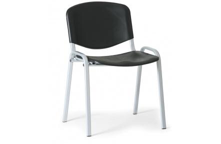 Konfereční židle plastová ISO černá, šedý kov židle konferenční
