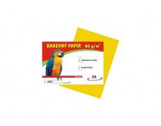 Barevné papíry A4 80g 100ls žlutá