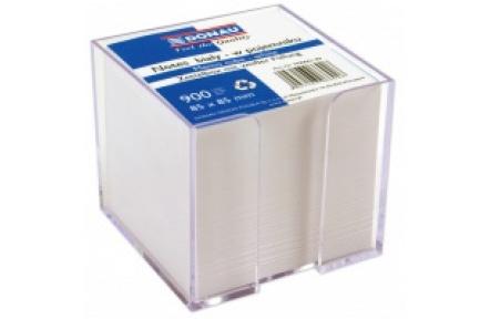 Zásobník s bílými papíry DONAU ,zásobník + bílá náplň 8,5x8,5cm  900listů