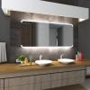 Koupelnové zrcadlo s LED podsvětlením 105x80 cm ASSEN