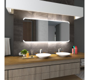 Koupelnové zrcadlo s LED podsvětlením 165x70 cm ASSEN