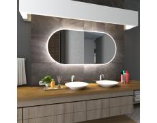 Koupelnové zrcadlo s LED podsvětlením 145x65 cm HAMBURG