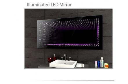 Koupelnové zrcadlo s LED osvětlením 120x90 cm 3D efekt, RGB