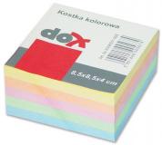 Kostka papírová lepené listy 8,5x8,4cm , barevná