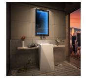 Koupelnové zrcadlo s LED osvětlením 80x90 cm 3D efekt, RGB