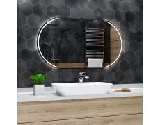 Koupelnové zrcadlo s LED podsvětlením 90x80 cm KAIR