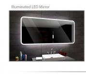 Koupelnové zrcadlo s LED podsvětlením 130x80 cm OSAKA