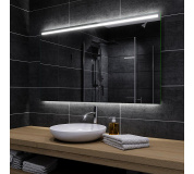 Koupelnové zrcadlo s LED podsvětlením 100x60cm GIZP podsvětlená spodní část