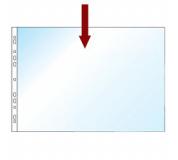 """Obal na doklady s EURODĚROVÁNÍM A3 na šířku  """"U"""" transparentní 1ks"""