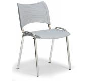 Konfereční židle plastová Smart šedá,chromovaný kov, židle konferenční