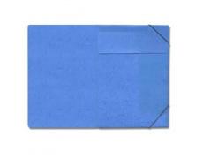 Mapa odkládací 3klopá s gumou prešpanová modrá 1ks desky s gumou