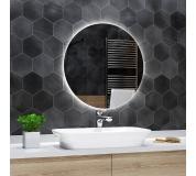 Koupelnové zrcadlo kulaté BALI s LED podsvícením Ø 60 cm podsvětlené
