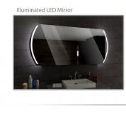 Koupelnové zrcadlo s LED podsvětlením 120x70 cm KAIR
