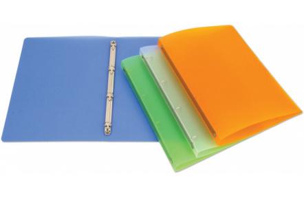 Pořadač PP OPALINE transparent A4 4kroužky oranžový