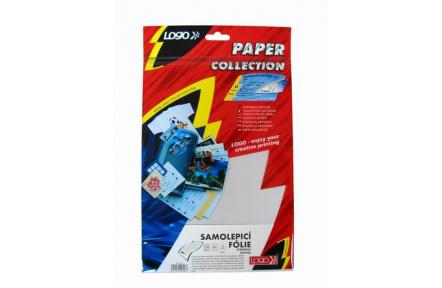 Stříbrná matná samolepicí fólie, 145g/m2, 1200dpi, 10 listů, laser, L, sam. folie 65g/m2, papírový.podkl.70g/m2