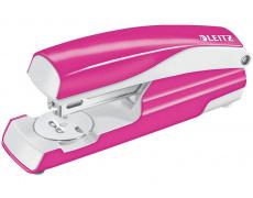 Sešívačka LEITZ 5502 metalická růžová , sešívač