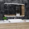 Koupelnové zrcadlo s LED podsvětlením 100x60 cm ASSEN