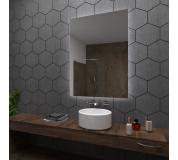 Koupelnové zrcadlo s LED podsvětlením 50x60 cm DUBAI