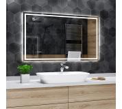 Koupelnové zrcadlo s LED podsvícením 200x80 cm ATLANTA , IP44, NEUTRÁLNÍ , zesílené svícení 800Lm/m