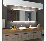 Koupelnové zrcadlo s LED podsvětlením 180x70 cm HOBART