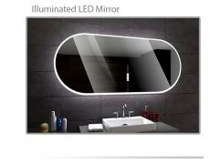 Koupelnové zrcadlo s LED podsvětlením 120x70 cm HAMBURG