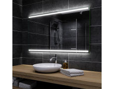 Koupelnové zrcadlo 130x70 cm DENVER , pouze plast.obestavba, bez led a bez trafa