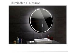 Koupelnové zrcadlo kulaté s LED podsvícením Ø 80 cm LONDON V33